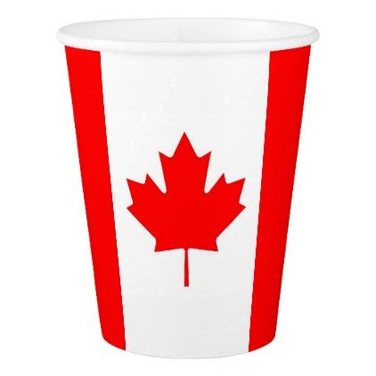 Patriotic paper cup with flag of Canada - decor gifts diy home & living cyo giftidea