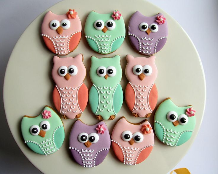 Pastel owls | Cookie Connection