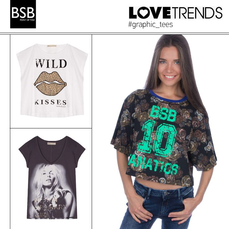 #graphic_tees Perfect with a short skirt or jeans for a simple look! #fw13_bsb