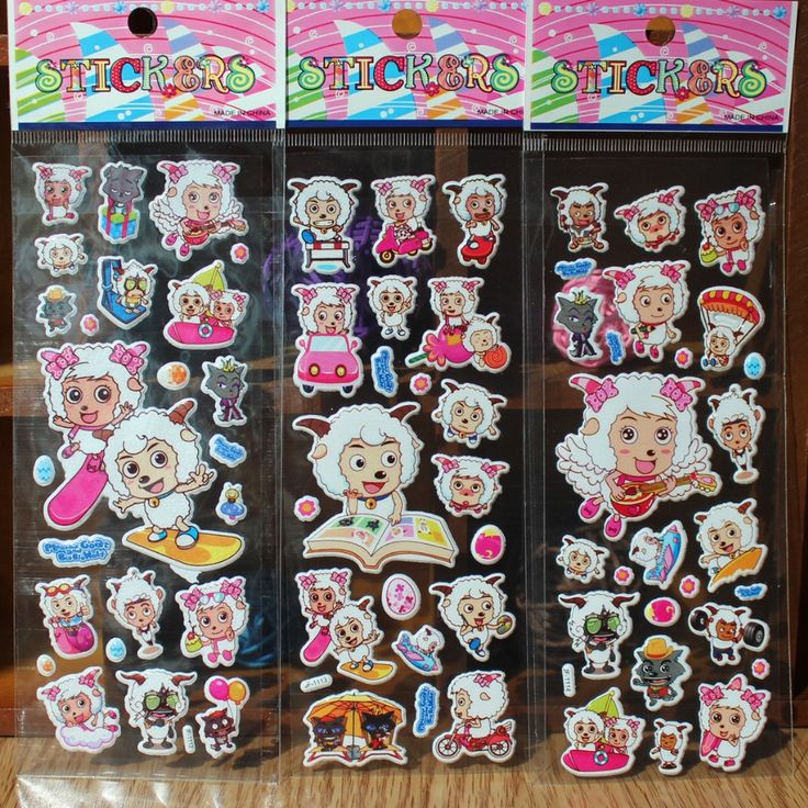 Pleasant goat lambs Wolf cartoon sticker toys chinese movie cartoon characters sheet stickers