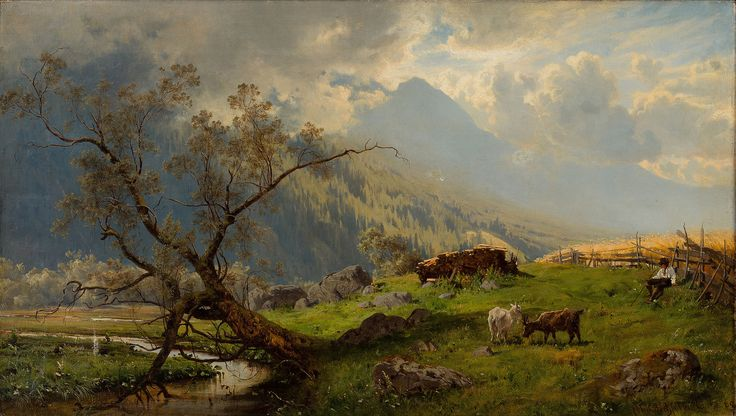 Hjalmar Munsterhjelm - Shepherd in the Alps [1860]