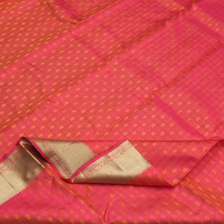 Sarangi Handwoven Kanjivaram Silk Sari - 640128355