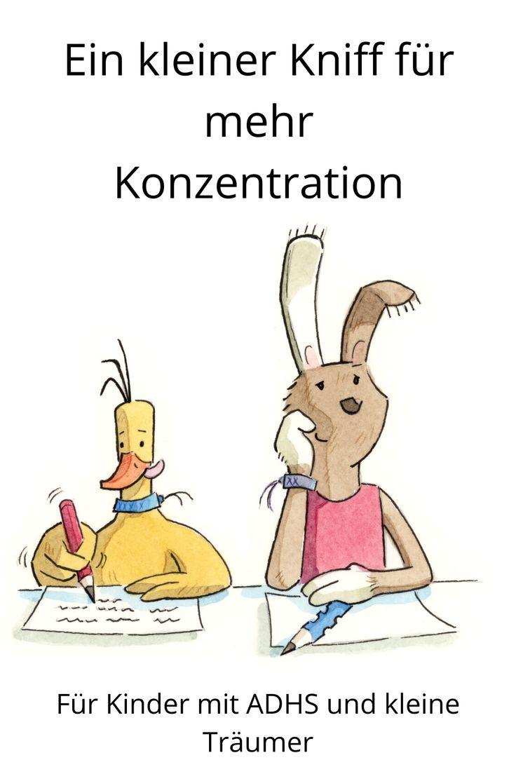Konzentration Ein kleiner Kniff mit grosser Wirkung   Kinder ...