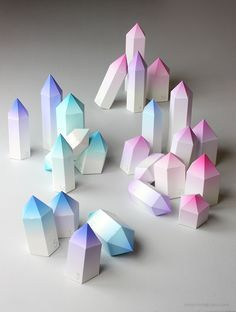 awesome diy paper crystals for Cave Quest VBS 2016