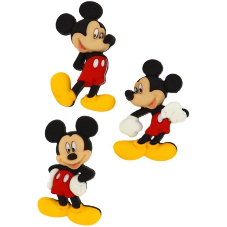 Disney Mickey Mouse Embellishment • Mickey Mouse Button (3/Pkg)