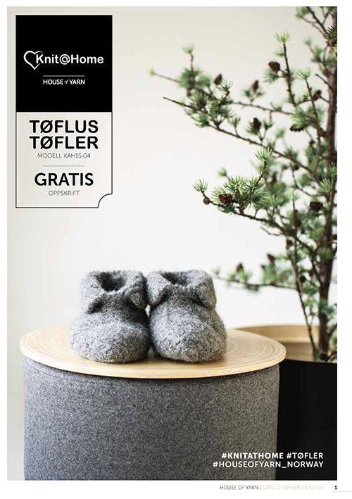 Strikk / tove Tøfler - gratis oppskrift