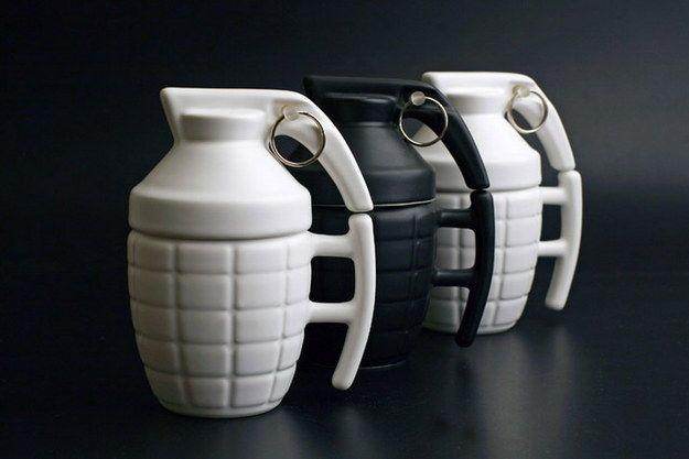 Grenade Coffee Mugs | 19 Really Cool Coffee