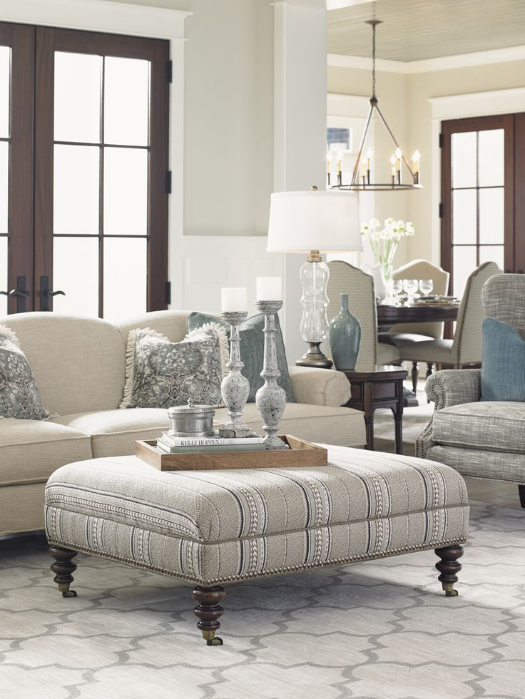 Coventry Hills Cooper Cocktail Ottoman | Lexington Home Brands