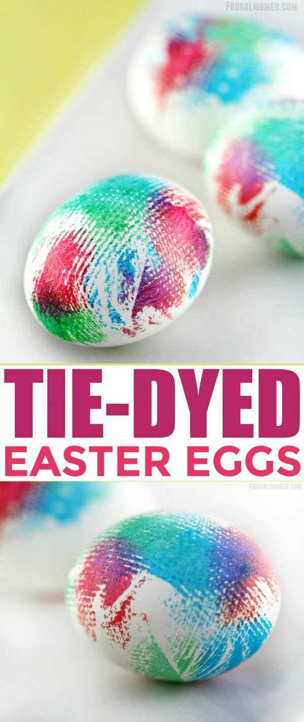 The kids will have fun with this easy tutorial to tie-dye their Easter eggs this year! Such a fun craft idea for the little ones!