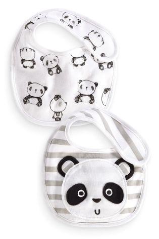Acheter Lot de deux bavoirs motif tête de panda en ligne sur Next : France