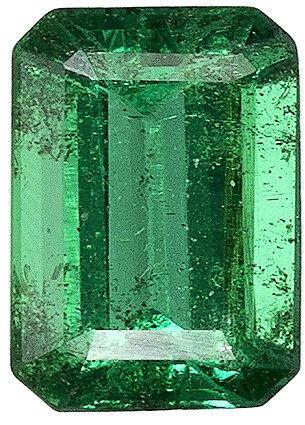This Genuine Natural Emerald Gemstone Displays A Medium Rich Green With A Hint Of Blue, Great Clarity Cut And Life. Super Eye Clean With Even Color, A Smart Looking Stone. NOTE For a personal detailed