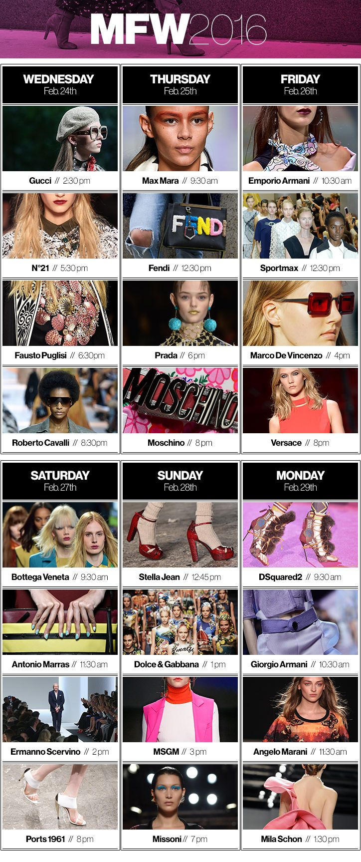 Milan Fashion Week Schedule: The Best Shows and Where to Live-Stream Them