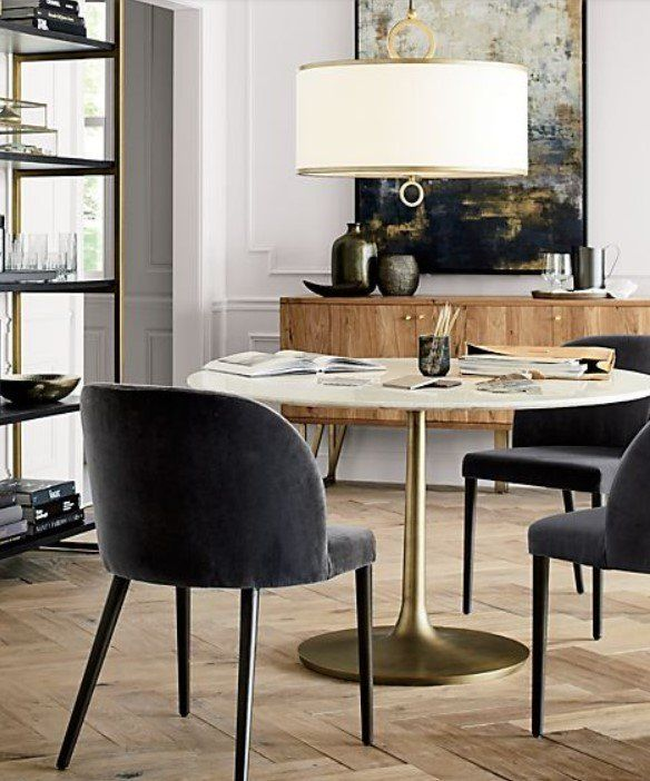 Camille Anthracite Italian Dining Chair Reviews Crate And Barrel Home Decor Dining Table Dining Table Marble