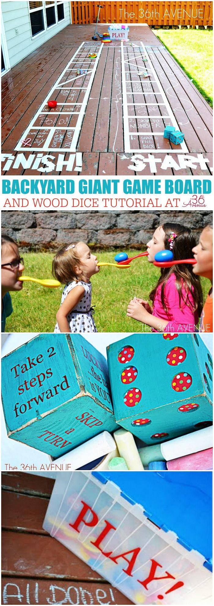 Attività per bambini - Come fare un cortile gigante gioco da tavolo a the36thavenue.com Pin ora e giocare più tardi!