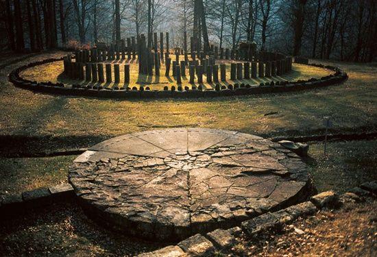 Sarmizegetusa Ulpia Traiana - the area of sanctuaries. Dacian capital, the most important military, religious and political centre. Now located in Gradiştea Muncelului, Hunedoara county, Romania.