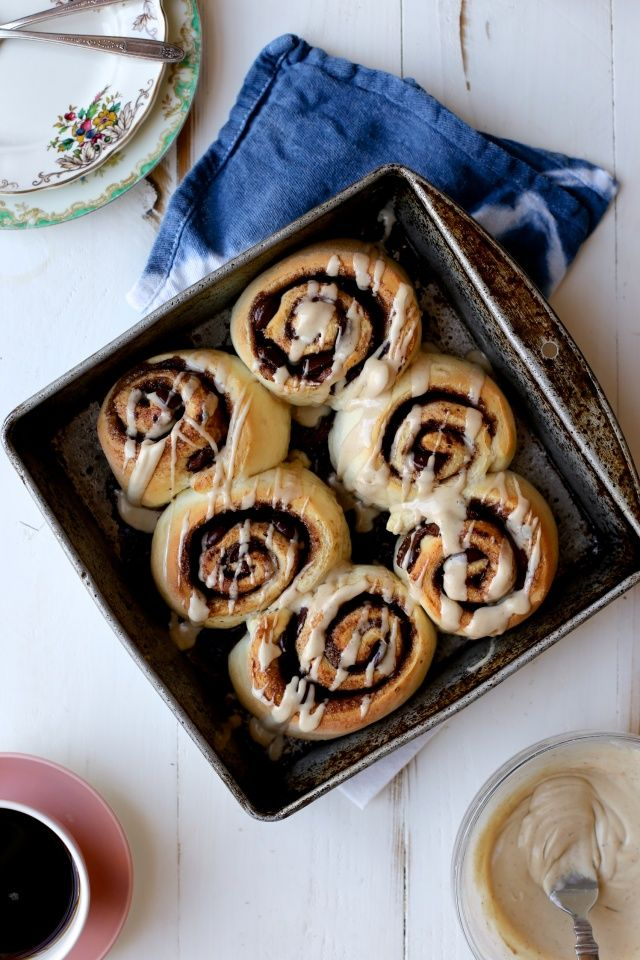 Quick and Dirty Chocolate Espresso Cinnamon Rolls