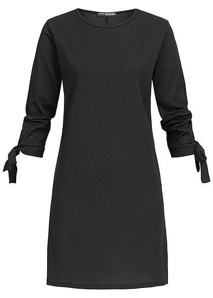 367af9458c755a Styleboom Fashion Damen Bow Sleeve Dress schwarz - Art.-Nr.  19026055