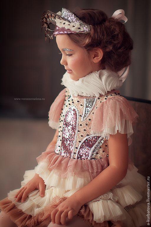 Детские танцевальные костюмы ручной работы. Заказать Платье для маленькой балерины.. Анастасия Курбатова (anastakurbatova). Ярмарка Мастеров. Платье для девочки