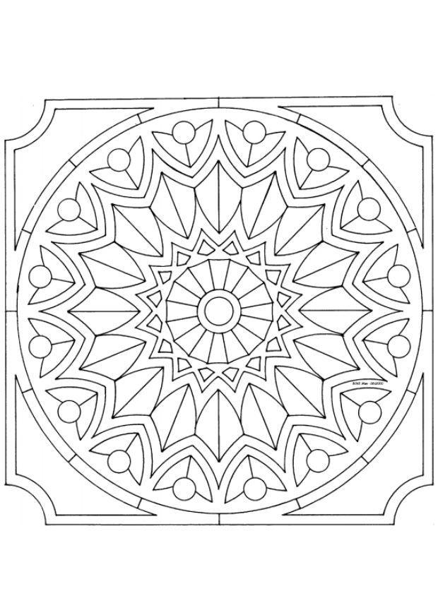 Mejores 7 imágenes de Mandalas en Pinterest | Mandala para colorear ...