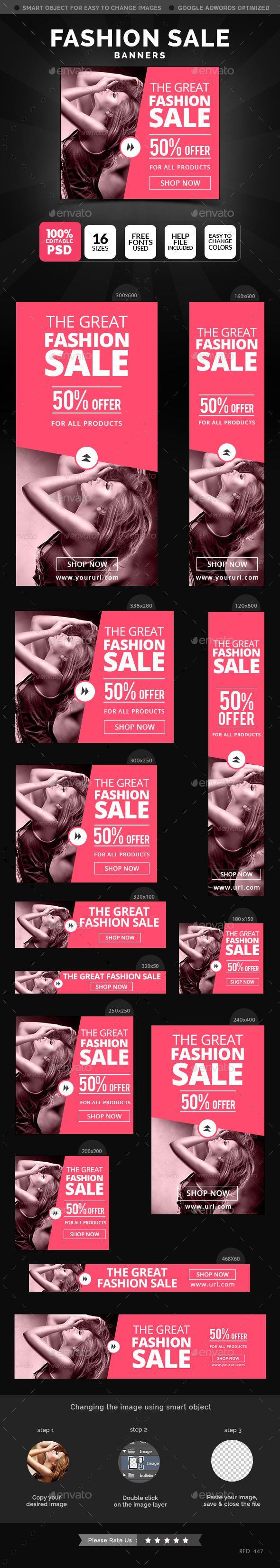 Fashion Sale Banners Template #design #ads Download: http://graphicriver.net/item/fashion-sale-banners/12375653?ref=ksioks