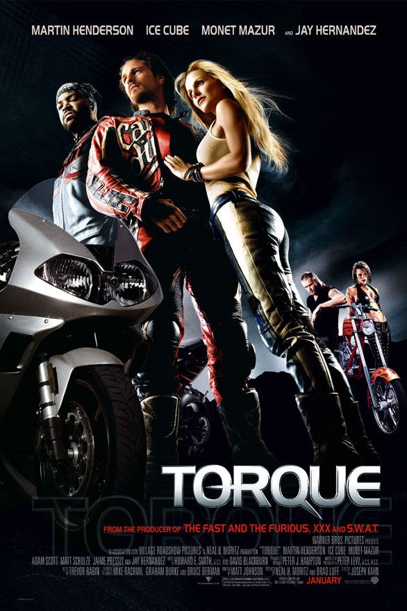 Torque (2004) dreadful and funny in equal measure with babes battling on bikes to NOS fueled Harkeys doing impossible speeds. Watch only if drunk.