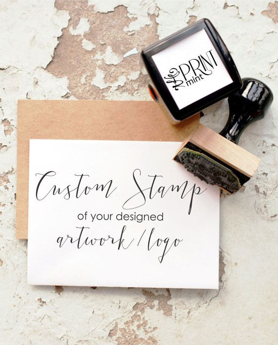 Wedding Ideas: Custom Stamp- Custom Logo Stamp, Business Card Sta...
