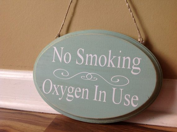 No Smoking Oxygen In Use/ wooden sign/ shabby by GAGirlDesigns, $18.00