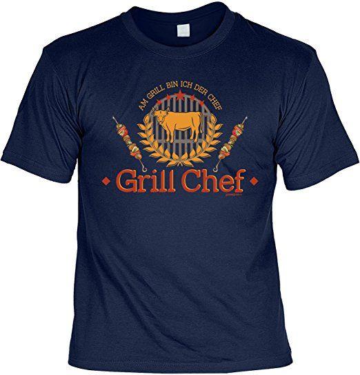 Grillchef Lustiges Geschenk zur Grillsaison T-Shirt Herren zum Grillen