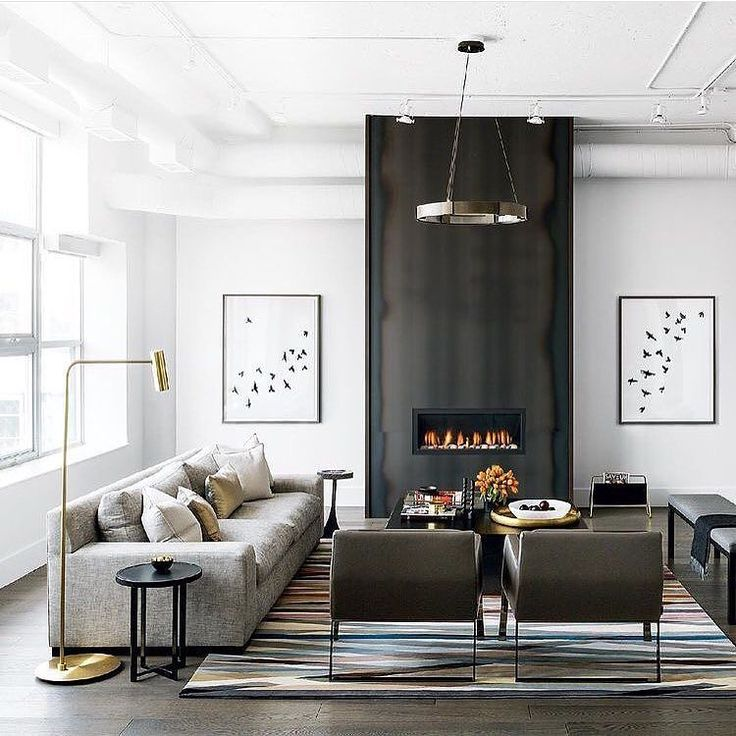 Best 25 modern living rooms ideas on pinterest modern - Modern fireplace living room design ...