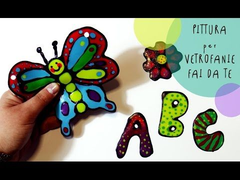 Tutorial Bambini Creativi: Colori riposizionabili ATTACCA e STACCA per vetrofanie FAI DA TE - YouTube