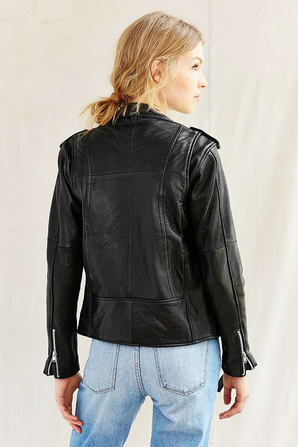 Slide View: 4: PeleCheCoco Leather Moto Jacket