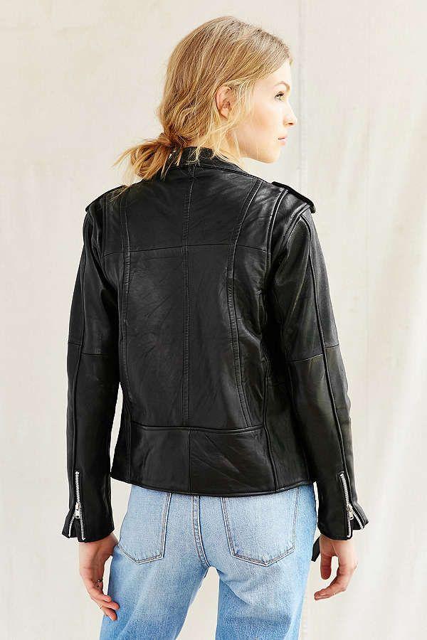 Slide View: 4: PeleCheCoco Leather Moto Jacket