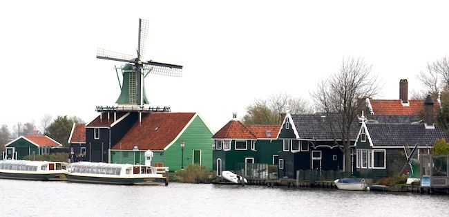 Zaanse Schans, view from the bridge. (20min from Amsterdam by train). The village itself is too tourist, but a bike ride around is very recommended.