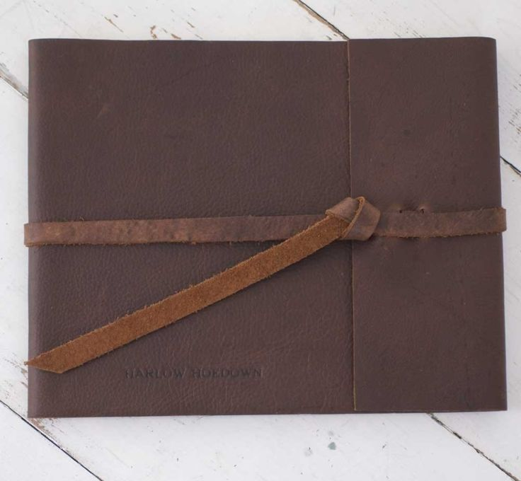 Nostalgic Imprints Inc. - Rustic Leather wedding guest book, vintage guestbook
