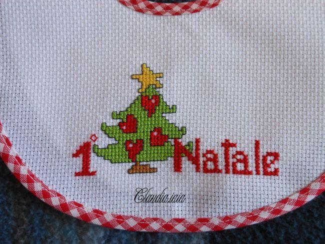 MdC Natale 2014_Bavaglino Alberello 1°Natale_2 - della categoria Punto Croce dall'album di Claudia.iaia.