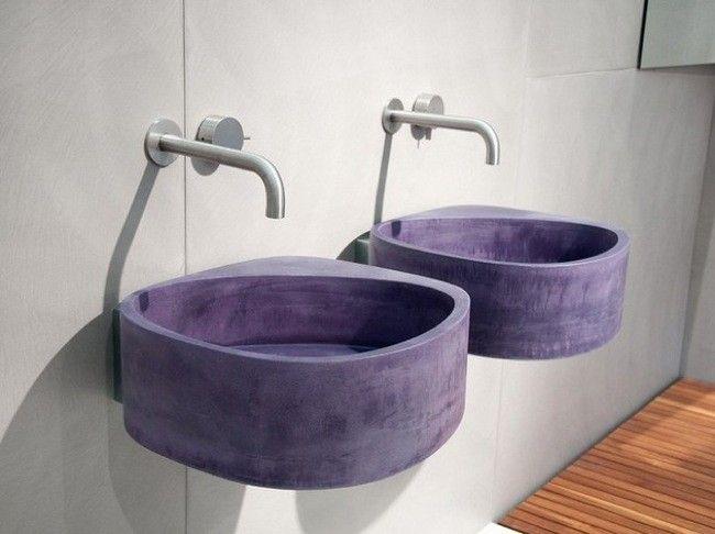 cemento teido de color nueva tendencia en la fabricacin de lavabos