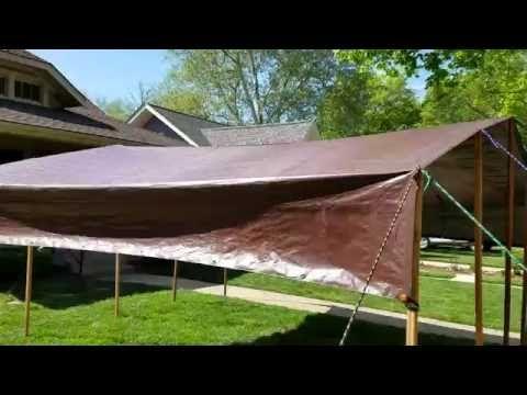 DIY Tarp Camping Canopy - YouTube