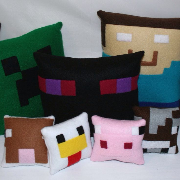 Another collection of Minecraft mini felt cushions