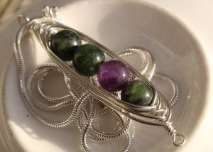 I love that this client chose to mix nephrite jade with amethyst to represent…
