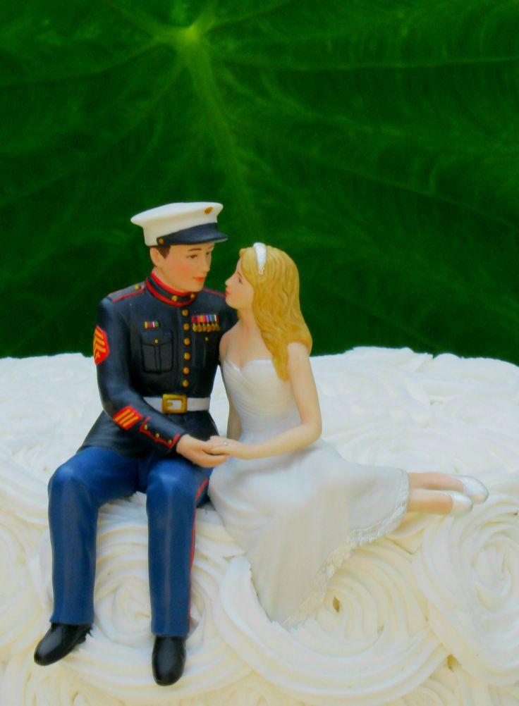 Marine Wedding Cake Topper -- Brand New from MagicalDay.com!