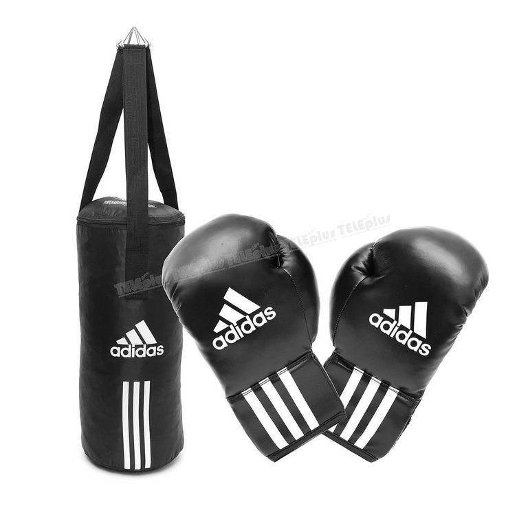 Adidas ADIBACJR Çocuk Boks Seti - 6-oz siyah Pu duratec suni deri boks eldiveni.  60x20 Cm boyutlarında boks torbası Üclü naylon kayışla sabitleme - Price : TL149.00. Buy now at http://www.teleplus.com.tr/index.php/adidas-adibacjr-cocuk-boks-seti.html