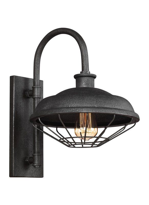 Januario 1 Light Metal Shade Outdoor Barn Light Outdoor Barn Lighting Wall Lantern Outdoor Wall Lantern