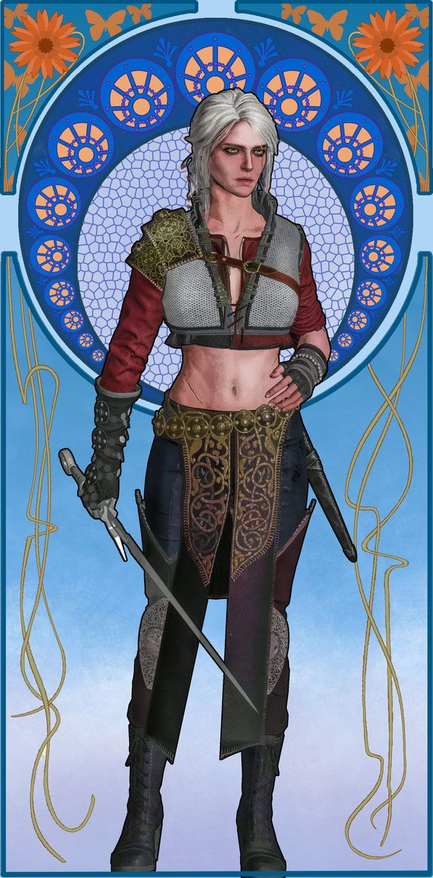 100 sorceresses Ciri 10 Art Nouveau by aschmit.deviantart.com on @DeviantArt