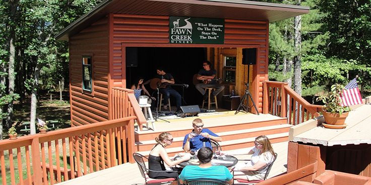 Escape the hustle and bustle of Wisconsin Dells for the lovely Fawn Creek Winery located just outside town. Fall is an especially wonderful time to experience the winery.