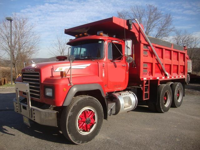 1995 Tandem R Model Mack Dump Truck 58 Rears  Price: $32,900.00  Year: 1995  VIN: 1M2P268CXSM021679  Engine/Trans: 350 Mack w/Maxitorque 12 spd Trans  Miles/Hours: 352,000 Miles/4949 Location: Hackettstown, NJ 07840