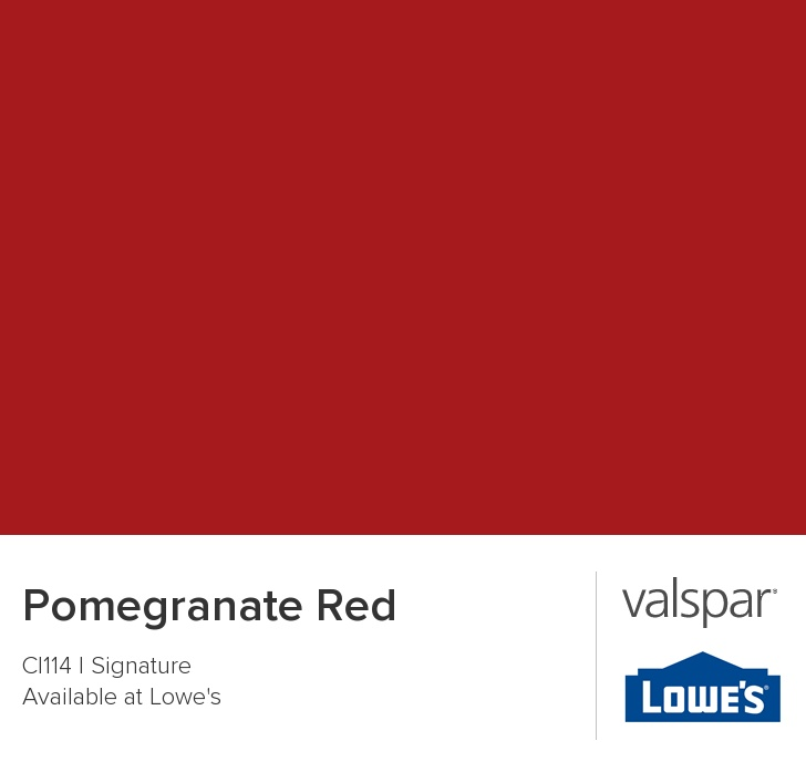Pomegranate Red From Valspar Accent Wall Landon S Room