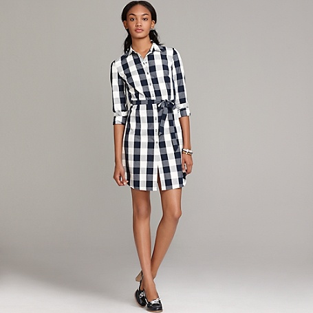 Tuxedo pleated gingham shirt dress look book pinterest for Tommy hilfiger gingham dress shirt
