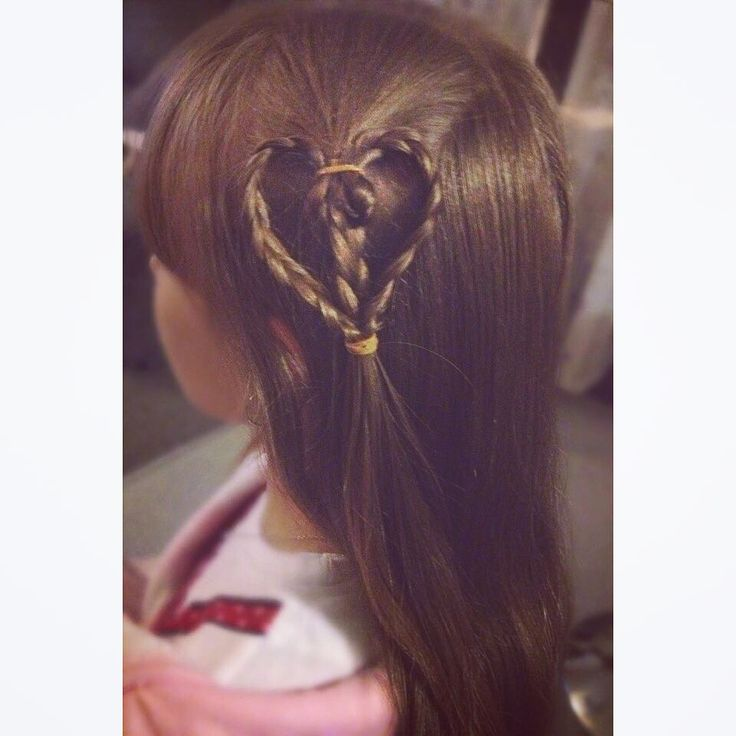 First attempt at 'love heart braid'