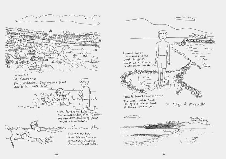 Shiuan-Wen Chu's Graphic Novels: Chu Cat Chronicle, number 5, pg 50-51