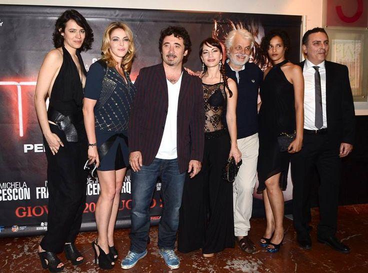 """Giorgia Sinicorni wears a total look Malloni during the launch of the new Federico Zampaglione's movie """"Tulpa"""""""